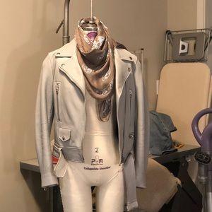 Acne studio , leather biker/motor jacket,pale blue